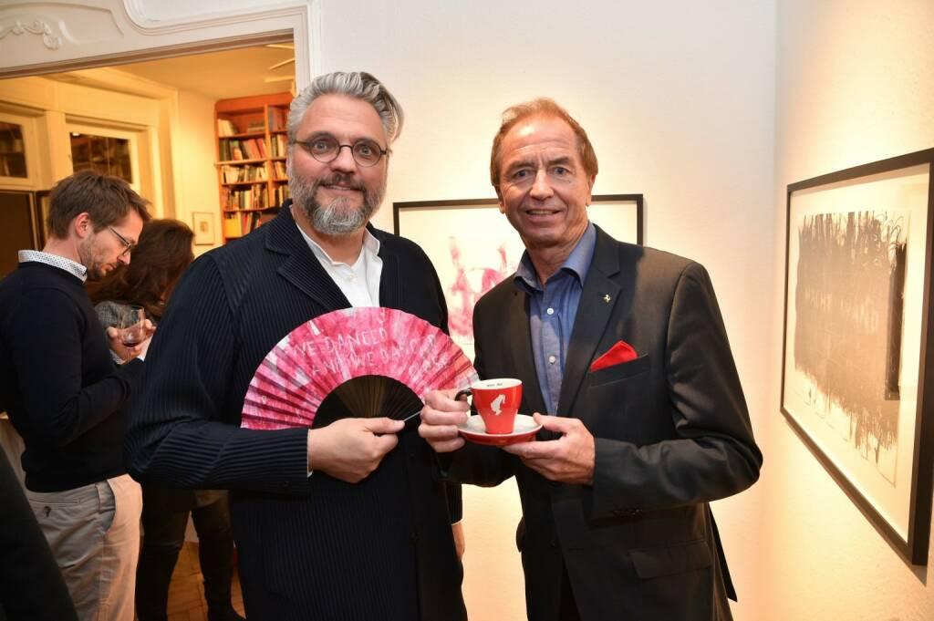 Christof Cremer, künstlerischer Leiter des Wiener Kaffeesiederballs, Oldtimerexperte Heribert Kaspar, (© Andreas Tischler) (21.11.2017)