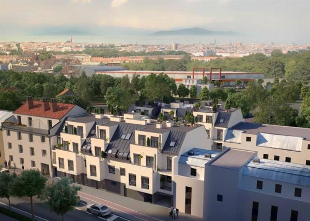 Gemeinsam mit Ex-Ski-Star Hans Knauß startet der Bauträger C&P sein 6. Immobilien-Crowdfunding bei HOME ROCKET. In Hirschstetten im 22. Wiener Gemeindebezirk entsteht ein neues Wohnhaus mit 56 modernen Wohneinheiten. Schnellentschlossene Anleger profitieren bis 6. Dezember vom Early-Bird-Zinssatz in Höhe von 5,5 % p.a., die Laufzeit beträgt nur zwei Jahre. Bild: Copyright: C&P Immobilien (22.11.2017)