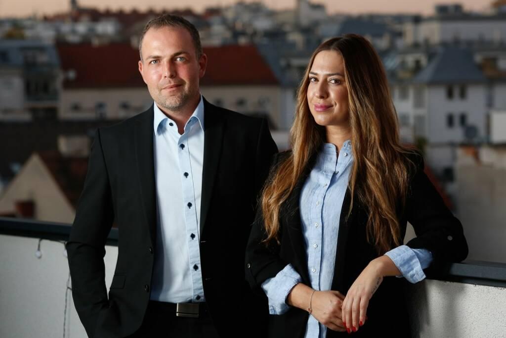Martin Gaitzenauer und Andreja Majer übernehmen die Geschäftsleitung für Alcatel Deutschland. Fotocredit:Alcatel, © Aussendung (23.11.2017)