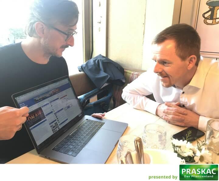 Josef Chladek (BSN), Christian-Hendrik Knappe (Deutsche Bank X-markets) - erster Blick auf mögliche neue Homepage mit Charts aus Indikationen