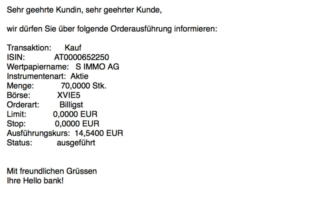 Kauf s Immo für #100100 hello http://www.boerse-social.com/simmo (23.11.2017)