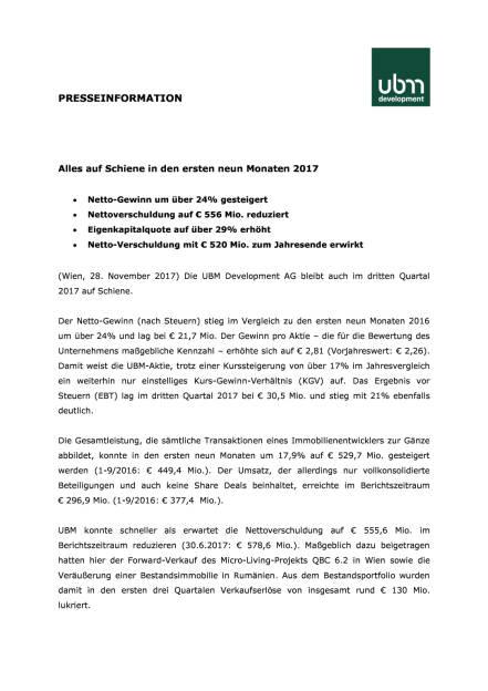 UBM: Q3 2017, Seite 1/4, komplettes Dokument unter http://boerse-social.com/static/uploads/file_2399_ubm_q3_2017.pdf (28.11.2017)