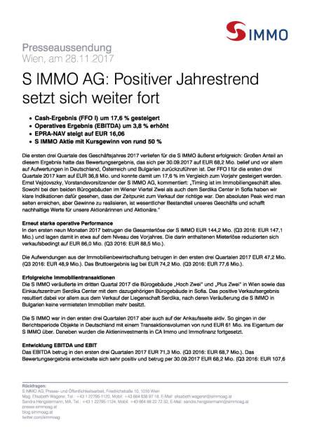 S Immo: Q3 2017, Seite 1/3, komplettes Dokument unter http://boerse-social.com/static/uploads/file_2400_s_immo_q3_2017.pdf (28.11.2017)