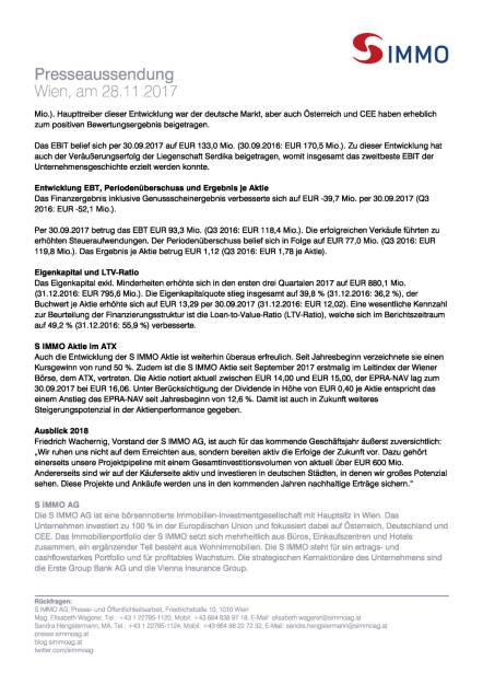 S Immo: Q3 2017, Seite 2/3, komplettes Dokument unter http://boerse-social.com/static/uploads/file_2400_s_immo_q3_2017.pdf (28.11.2017)