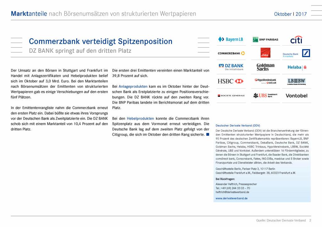 Zertifikatemarkt Deutschland: Commerzbank verteidigt Spitzenposition, Seite 2/15, komplettes Dokument unter http://boerse-social.com/static/uploads/file_2402_zertifikatemarkt_deutschland_commerzbank_verteidigt_spitzenposition.pdf (28.11.2017)