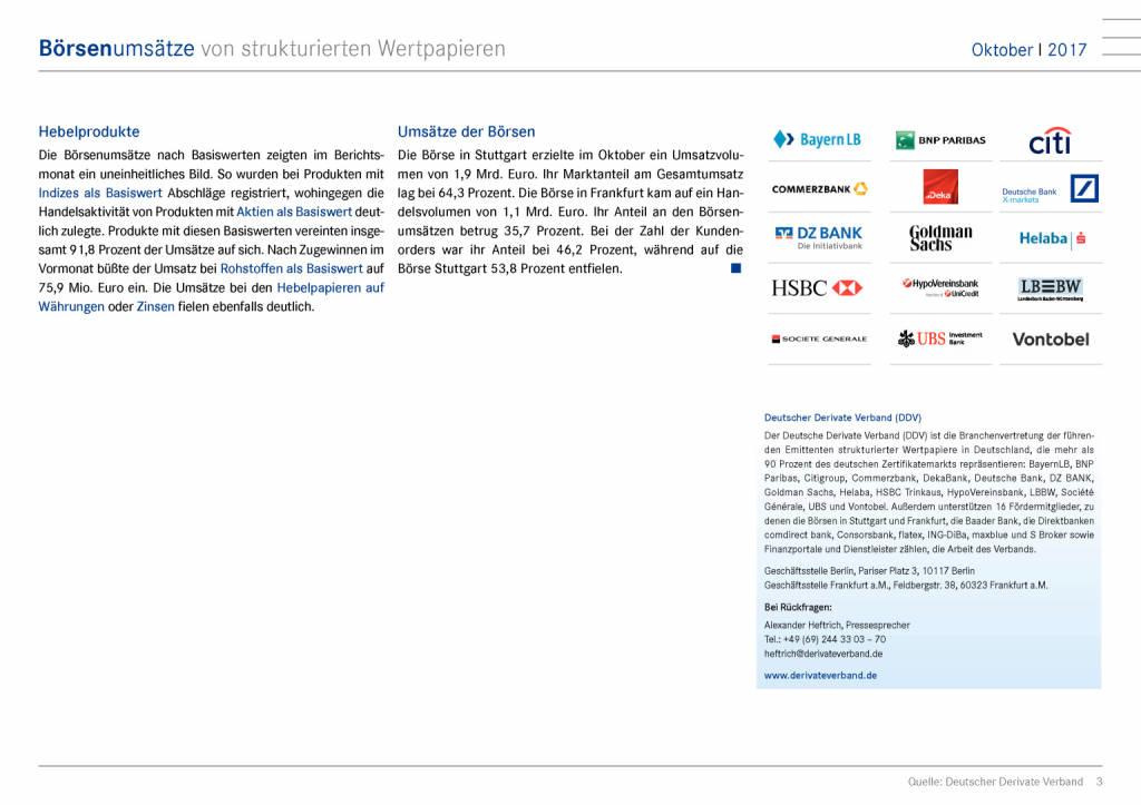 Deutschland: Steigende Umsätze am Zertifikatemarkt, Seite 3/9, komplettes Dokument unter http://boerse-social.com/static/uploads/file_2401_deutschland_steigende_umsatze_am_zertifikatemarkt.pdf (28.11.2017)