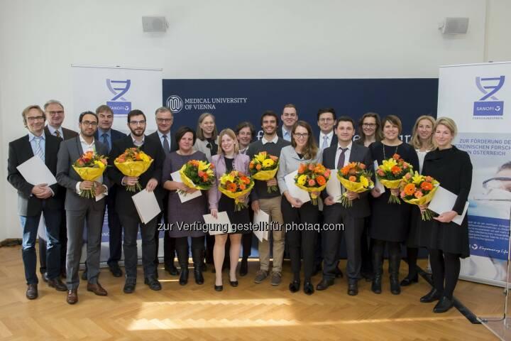 Sanofi Aventis GmbH: Sanofi Forschungspreis 2017 gestiftet: 12 NachwuchsforscherInnen ausgezeichnet (Fotocredit: sanofi-aventis GmbH/APA-Fotoservice/Hörmandinger)