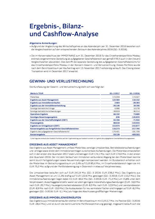 Immofinanz: Ergebnis-, Bilanz- und Cash ow-Analyse, Seite 1/6, komplettes Dokument unter http://boerse-social.com/static/uploads/file_2404_immofinanz_ergebnis-_bilanz-_und_cash_ow-analyse.pdf