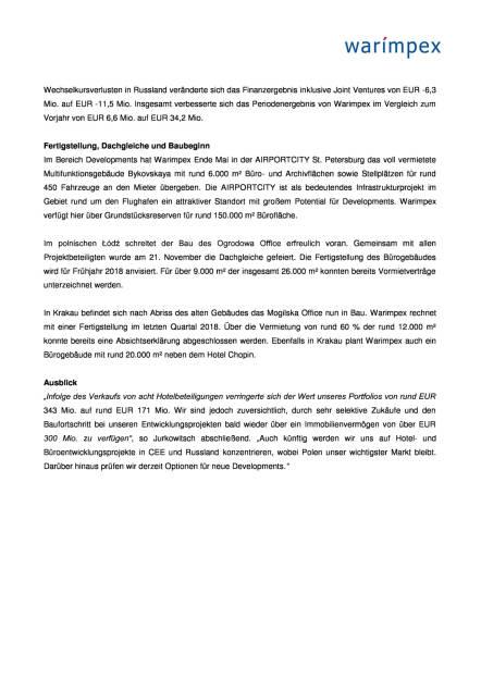 Warimpex: Q3 2017, Seite 2/4, komplettes Dokument unter http://boerse-social.com/static/uploads/file_2408_warimpex_q3_2017.pdf (30.11.2017)