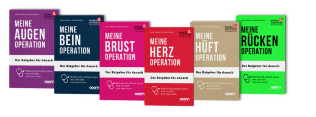 """Die Wiener Städtische bietet ihren Kunden die kostenlose Buchreihe """"Meine Operation"""" mit wertvollen Tipps und Empfehlungen. Bildquelle: www.wienerstaedtische.at, © Aussender (01.12.2017)"""
