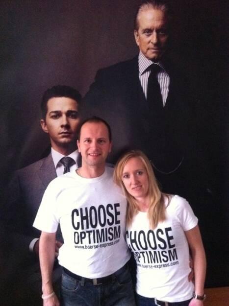 A Choose with a Smeil!t: Shia LaBeouf, Erhard Salchenegger, Sigrid Weilguni, Michael Douglas, © Diverse Fotografen / Aktion wurde vom Börse Express 2014 an photaq/BSN übetragen (01.06.2013)