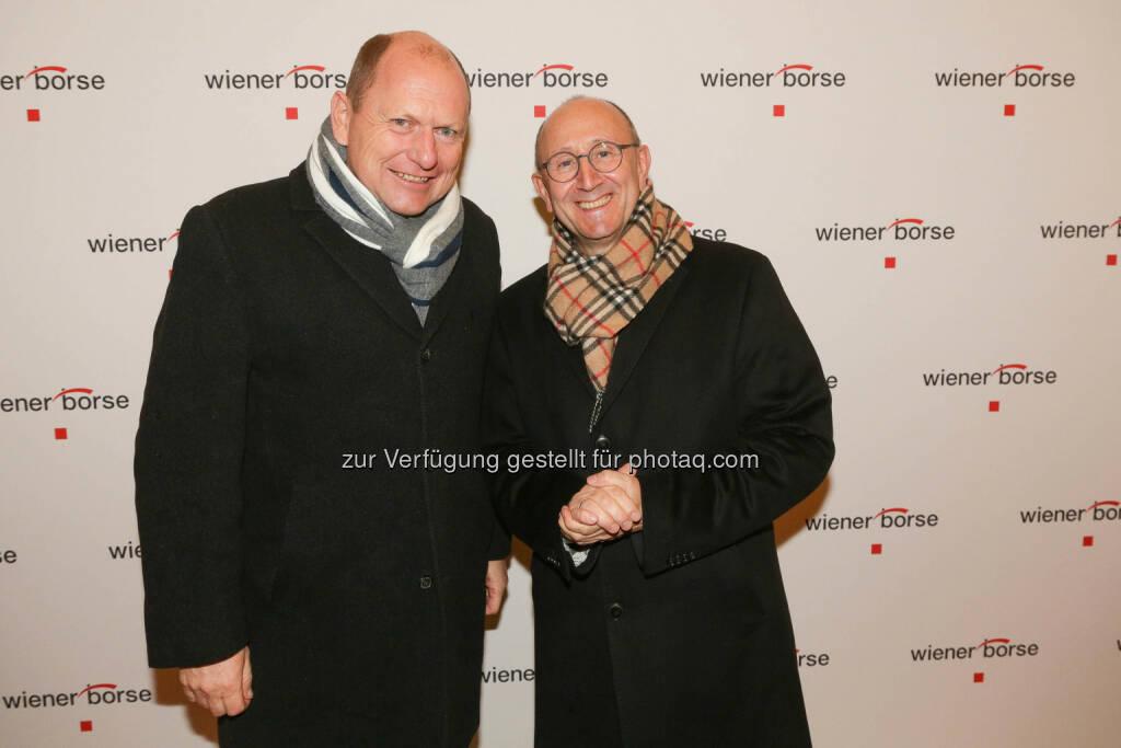 Christoph Varga, Ludwig Nießen, © Wiener Börse/APA-Fotoservice (01.12.2017)