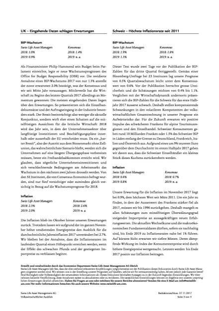 Swiss Life Finanzmarkt- und Volkswirtschaftsausblick 12/2017, Seite 3/6, komplettes Dokument unter http://boerse-social.com/static/uploads/file_2409_swiss_life_finanzmarkt-_und_volkswirtschaftsausblick_122017.pdf (05.12.2017)