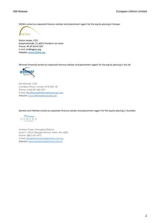 Kapitalerhöhung European Lithium, Seite 2/2, komplettes Dokument unter http://boerse-social.com/static/uploads/file_2410_kapitalerhohung_european_lithium.pdf