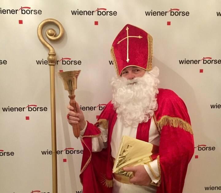Nikolo zu Besuch in der Wiener Börse, Foto: Wiener Börse