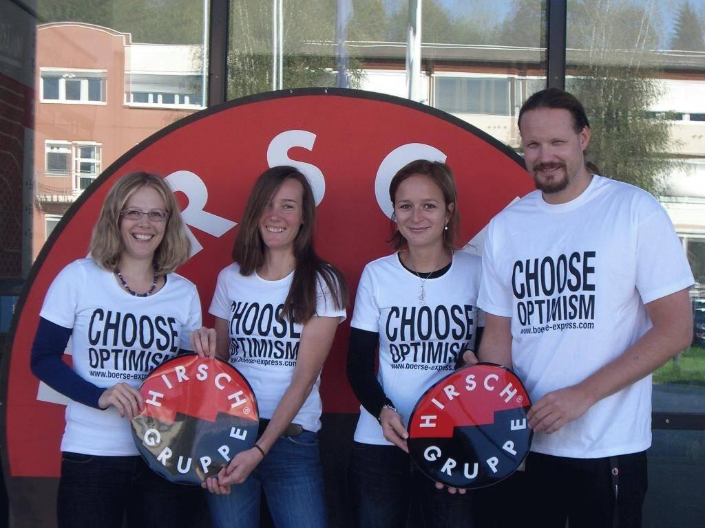 A Choose with a Smeil! Marlene Wieland, Katrin Pibal, Liz-Babette Errath, Markus Krenn, © Diverse Fotografen / Aktion wurde vom Börse Express 2014 an photaq/BSN übetragen (01.06.2013)