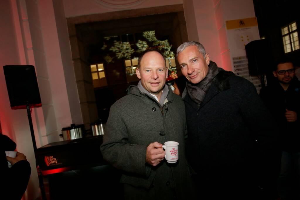 Alexander Knechtsberger und ORF-Moderator Rainer Pariasek (© leisure.at/Roland Rudolph) (12.12.2017)