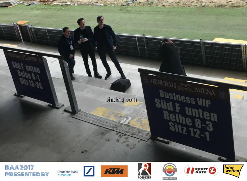Michael Plos, Manuel Ortlechner, Josef Chladek - Generali Arena, © Michaela Mejta, Josef Chladek (13.12.2017)