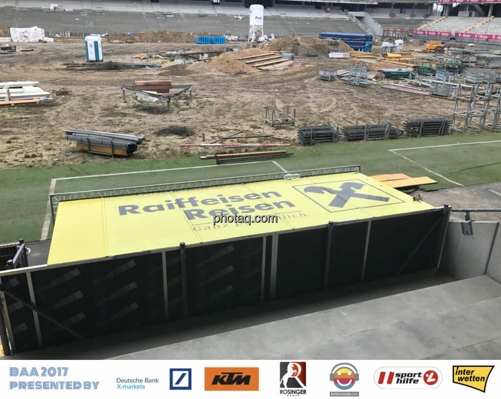 Generali Arena Baustelle, Raiffeisen, © Michaela Mejta, Josef Chladek (13.12.2017)