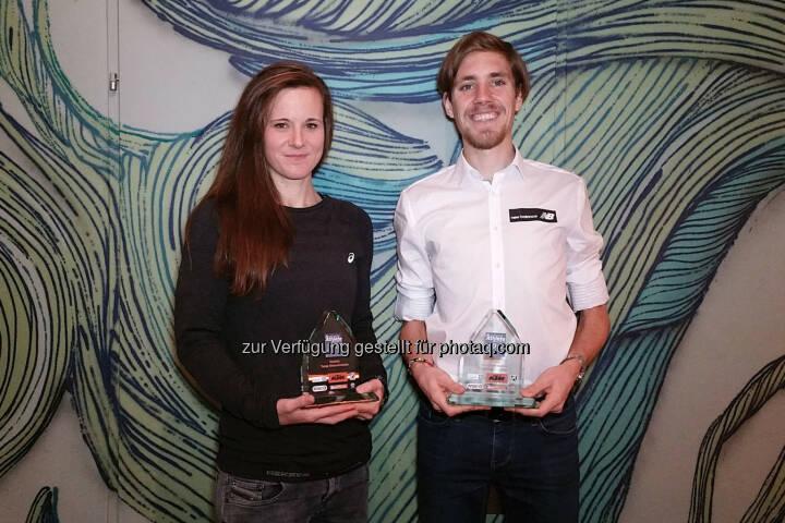 Siegreich in Laufschuhen wie auch im Internet: Tanja Stroschneider und Christoph Sander