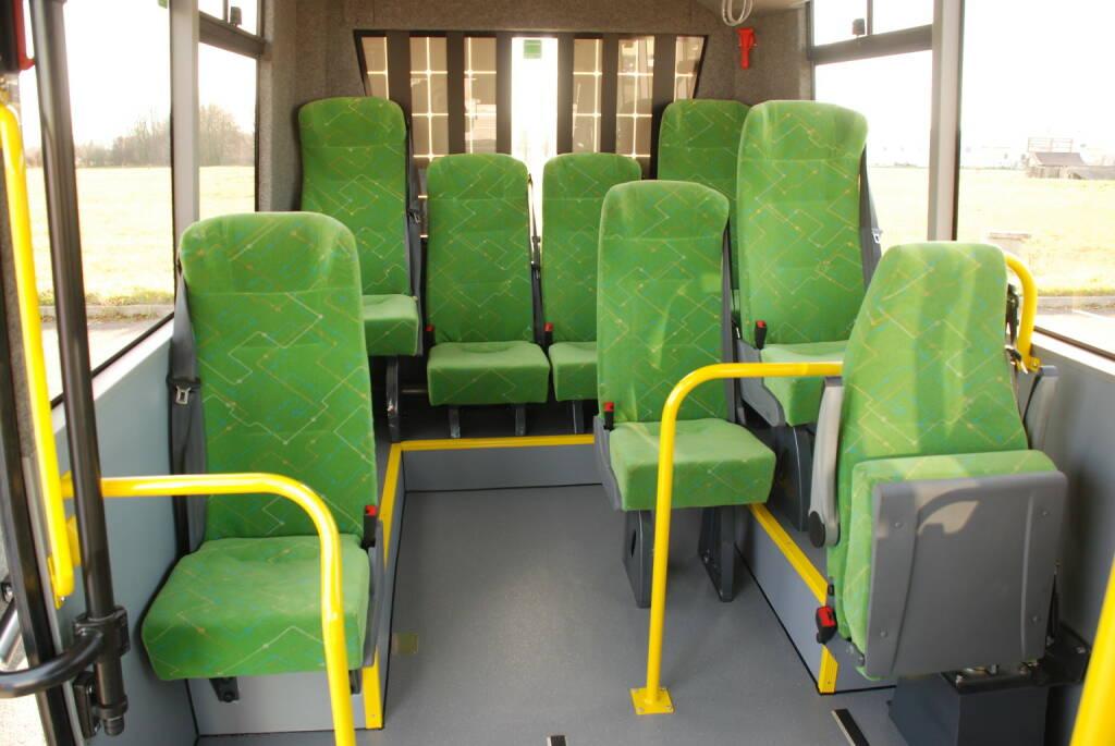 K-Bus: Erster 100 % Niederflurbus mit Elektroantrieb und Solar Range Extender, Sitze, grün, E-Bus, Elektro, Fotocredit:K-Bus GmbH, © Aussendung (18.12.2017)