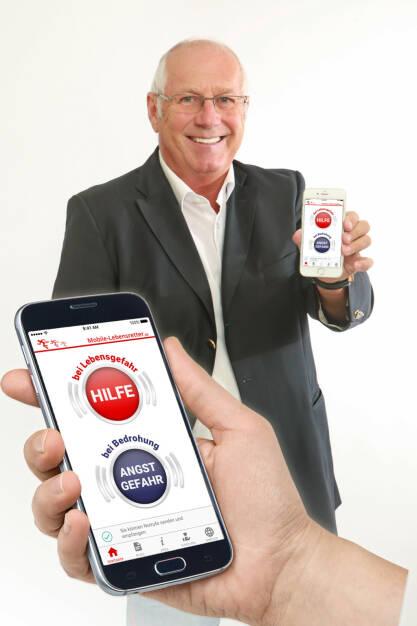 Die App Mobile Lebensretter kann ihr Leben retten, Norbert Grüntjens hat die App Mobile-Lebensretter 2017 als karitatives Projekt gegründet, Fotocredit: Mobile Lebensretter (20.12.2017)