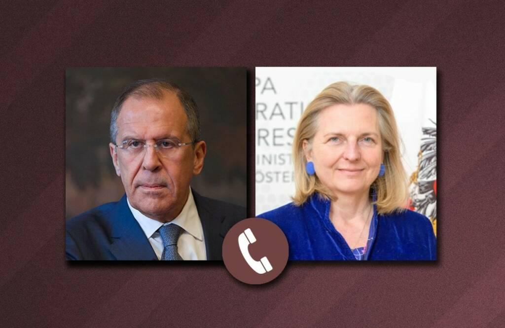 Botschaft der Russischen Föderation: Telegongespräch zwischen Russlands Außenminister Sergej Lawrow und Österreichs Außenministerin Dr. Karin Kneissl; Fotocredit: www.mid.ru, © Aussender (26.12.2017)