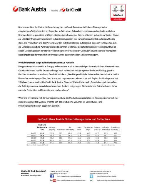 Rekordhoch zum Jahresende in der österreichischen Industrie, Seite 2/4, komplettes Dokument unter http://boerse-social.com/static/uploads/file_2413_rekordhoch_zum_jahresende_in_der_osterreichischen_industrie.pdf (28.12.2017)