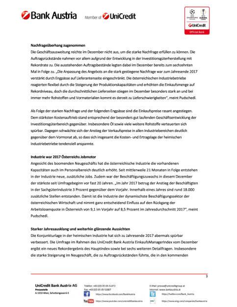 Rekordhoch zum Jahresende in der österreichischen Industrie, Seite 3/4, komplettes Dokument unter http://boerse-social.com/static/uploads/file_2413_rekordhoch_zum_jahresende_in_der_osterreichischen_industrie.pdf (28.12.2017)