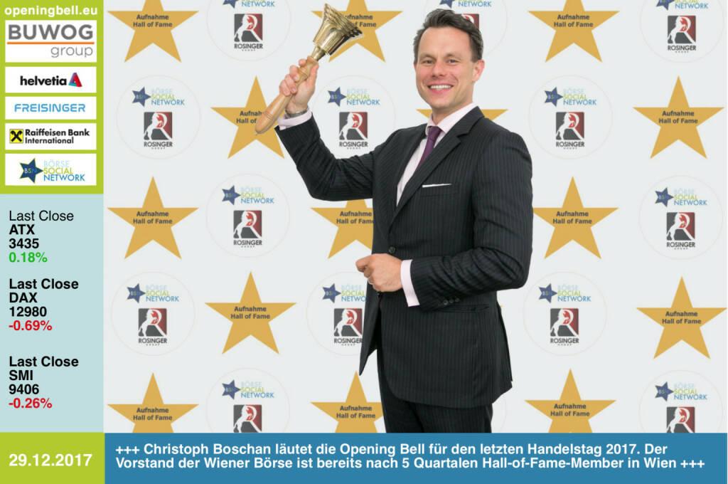 #openingbell am 29.12.:  Christoph Boschan läutet die Opening Bell für den letzten Handelstag 2017. Der Vorstand der Wiener Börse ist bereits nach 5 Quartalen Hall-of-Fame-Member in Wien. Mehr dazu im nächsten http://www.boerse-social.com/magazine  http://www.boerse-social.com/hall-of-fame http://www.wienerborse.at https://www.facebook.com/groups/GeldanlageNetwork/ #goboersewien  (29.12.2017)