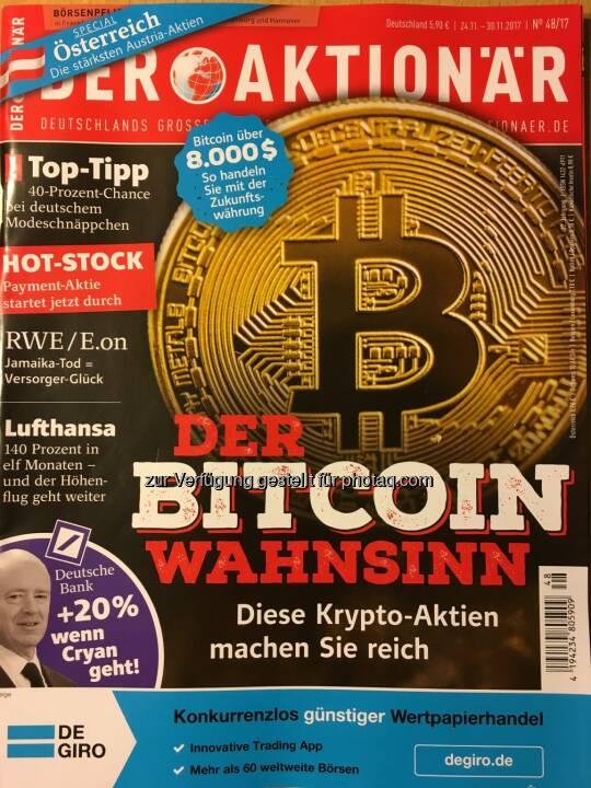 Der Aktionär - Der Bitcoin Wahnsinn - Diese Krypta-Aktien machen Sie reich... Inkl. Österreich-Special - Die stärksten Austria-Aktien...