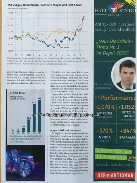 Die o.a. Analyse aus dem Aktionär Teil 2 (05.01.2018)