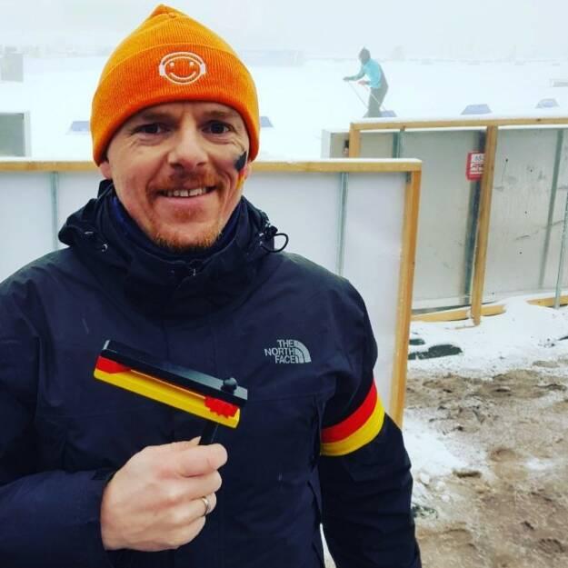 Christian-Hendrik Knappe, Runplugged Laufstark (Koop. Runplugged.com und Deutsche Bank X-Markets) beim Biathlon-Weltcup in Oberhof (07.01.2018)