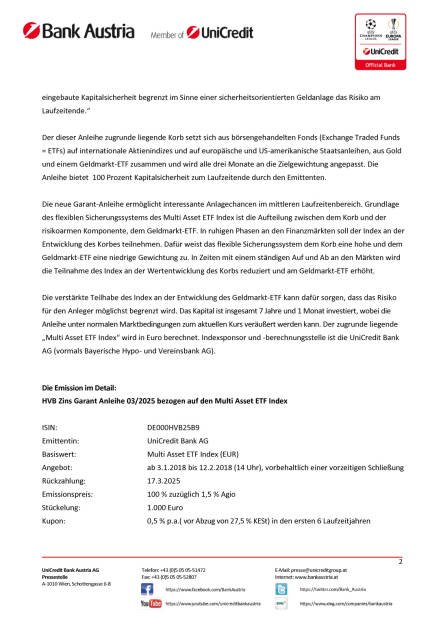 """Die neue HVB Zins Garant Anleihe 03/2025 bezogen auf den """"Multi Asset ETF Index"""", Seite 2/3, komplettes Dokument unter http://boerse-social.com/static/uploads/file_2414_die_neue_hvb_zins_garant_anleihe_032025_bezogen_auf_den_multi_asset_etf_index.pdf (09.01.2018)"""