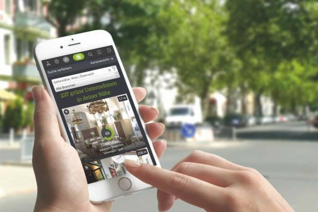 """TREEDAY, der weltweit erste """"Green Lifestyle Guide"""", bietet Orientierung im Nachhaltigkeits-Dschungel: Eine interaktive Karte für nachhaltige Unternehmen weist aus, wie nachhaltig Dienstleistungen und Produkte tatsächlich sind. Mehr als 10.000 Unternehmen sind beim heimischen Start-up bereits gelistet, mehr als 50.000 User nutzten die Services im vergangenen Jahr. Die laufende Expansion finanziert TREEDAY auch über Crowdfunding auf Green Rocket. Copyright: TREEDAY GmbH (10.01.2018)"""