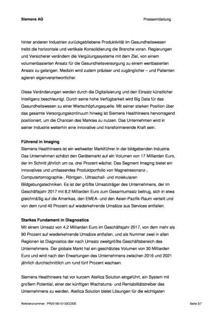 Siemens Healthineers geht an die Börse, Seite 3/7, komplettes Dokument unter http://boerse-social.com/static/uploads/file_2416_siemens_healthineers_geht_an_die_borse.pdf (16.01.2018)
