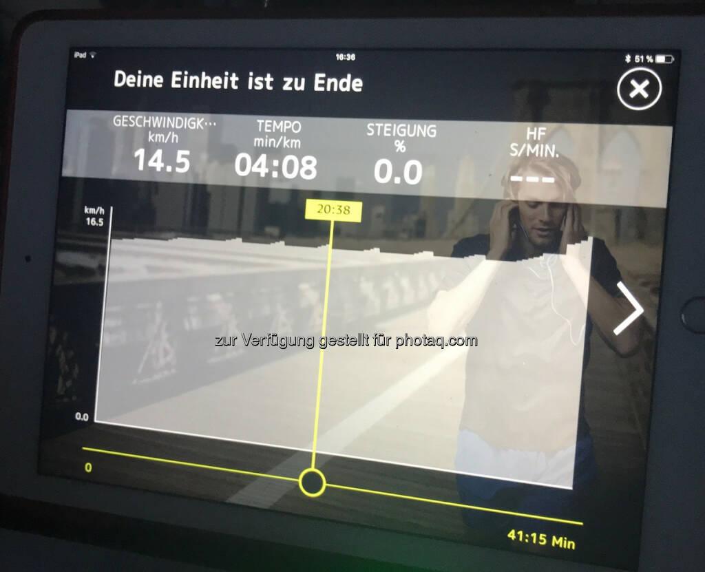 Neue 10k-Bestzeit auf dem Technogym (17.01.2018)