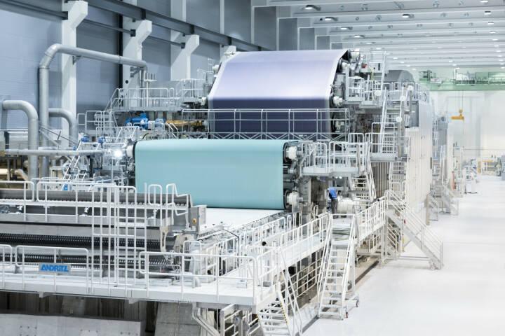 Die von ANDRITZ gelieferte PM2 ist seit 2013 erfolgreich am Standort Pöls in Betrieb. © ANDRITZ
