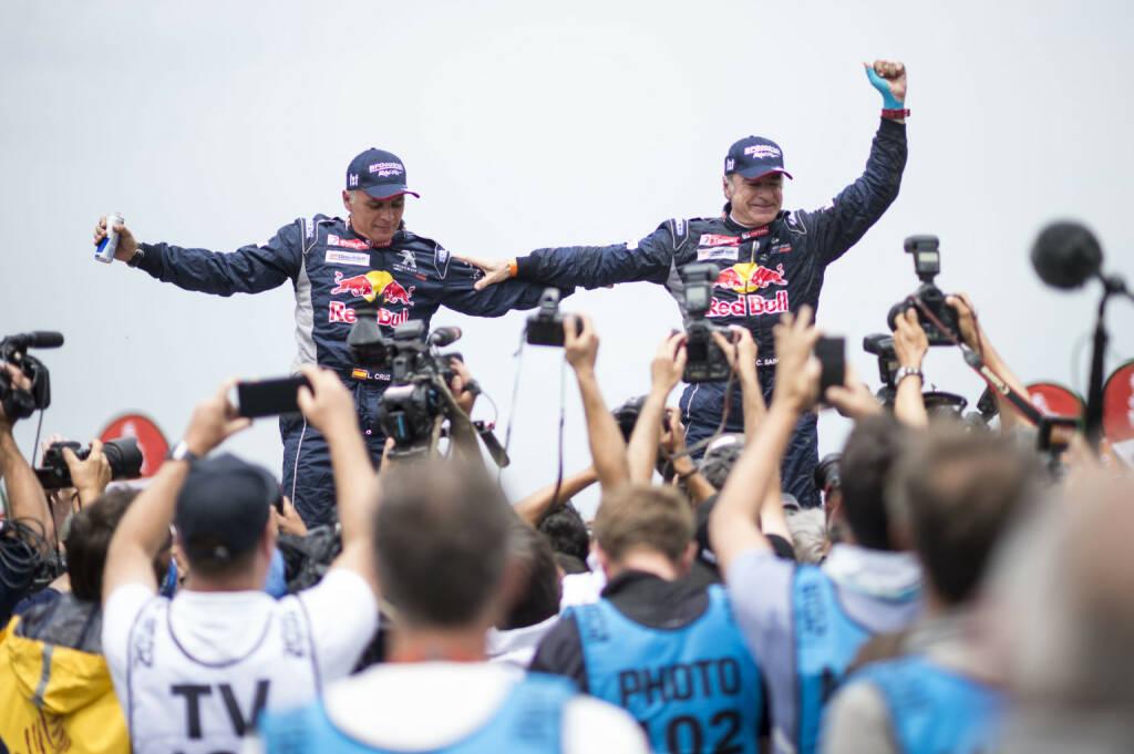 Peugot siegt bei Dakar-Rallye zum 3. Mal in Folge, Carlos Sainz (ESP) vom Team Peugeot Total; Fotocredit:Red Bull Content Pool/Marcelo Maragni, © Aussendung (22.01.2018)