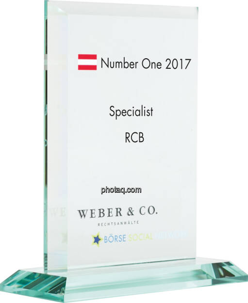 Number One Awards 2017 - Specialist - RCB, © photaq (22.01.2018)