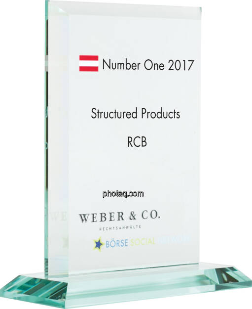 Number One Awards 2017 - Structured Products - RCB, © photaq (22.01.2018)