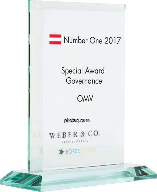 Number One Awards 2017 - Special Award Governance - OMV, © photaq (22.01.2018)