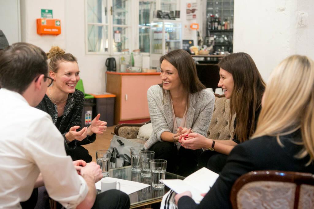 Social Start-up Initiative found! von Deloitte und Impact Hub Vienna: David Günther (Deloitte), Nina Poxleitner (MTOP), Lisa-Maria Sommer (MTOP), Amela Poglitsch (Deloitte), Klara Fasching (Deloitte); Credit: Cochic Photography (29.01.2018)