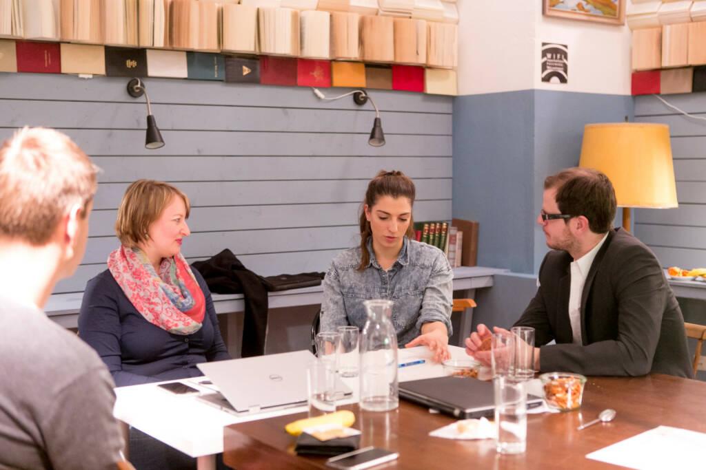 Social Start-up Initiative found! von Deloitte und Impact Hub Vienna: (vlnr): David Simon (Deloitte), Cornelia Mayer (Topfreisen Academy), Yasmina Gross (Topfreisen Academy), Christoph Nestler (Deloitte), Credit: Cochic Photography (29.01.2018)