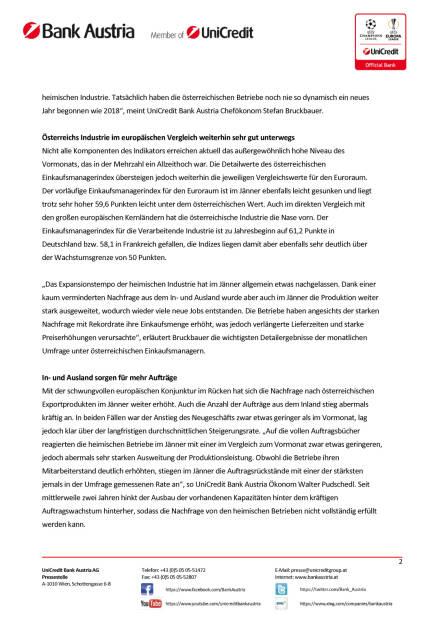 Österreichs Industrie mit stärkstem Jahresauftakt seit zwanzig Jahren, Seite 2/4, komplettes Dokument unter http://boerse-social.com/static/uploads/file_2418_osterreichs_industrie_mit_starkstem_jahresauftakt_seit_zwanzig_jahren.pdf (29.01.2018)