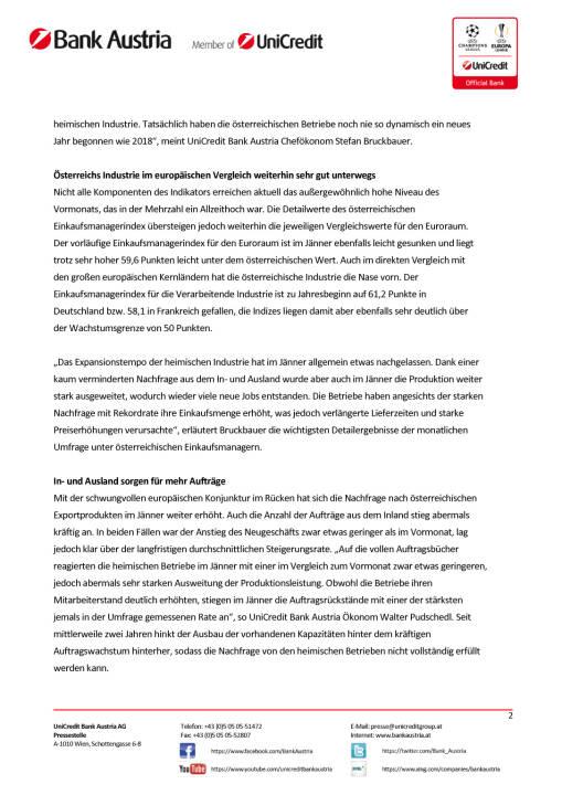 Österreichs Industrie mit stärkstem Jahresauftakt seit zwanzig Jahren, Seite 2/4, komplettes Dokument unter http://boerse-social.com/static/uploads/file_2418_osterreichs_industrie_mit_starkstem_jahresauftakt_seit_zwanzig_jahren.pdf