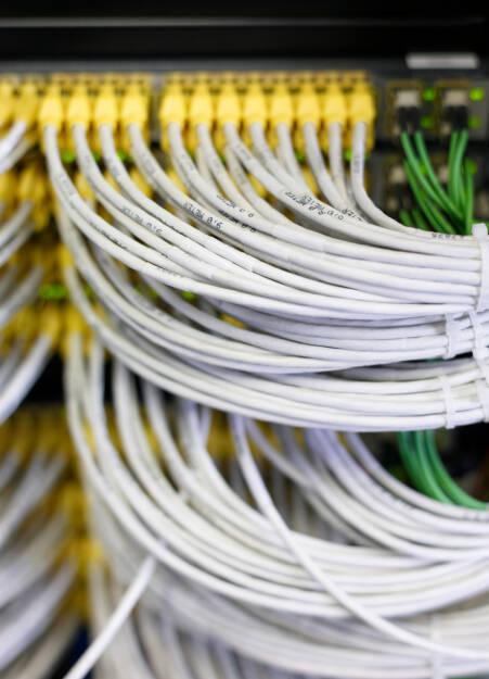 Kabel, Rechenzentrum, Datenübertragung, Xetra, Handelsdaten, Credit: Deutsche Börse AG (30.01.2018)