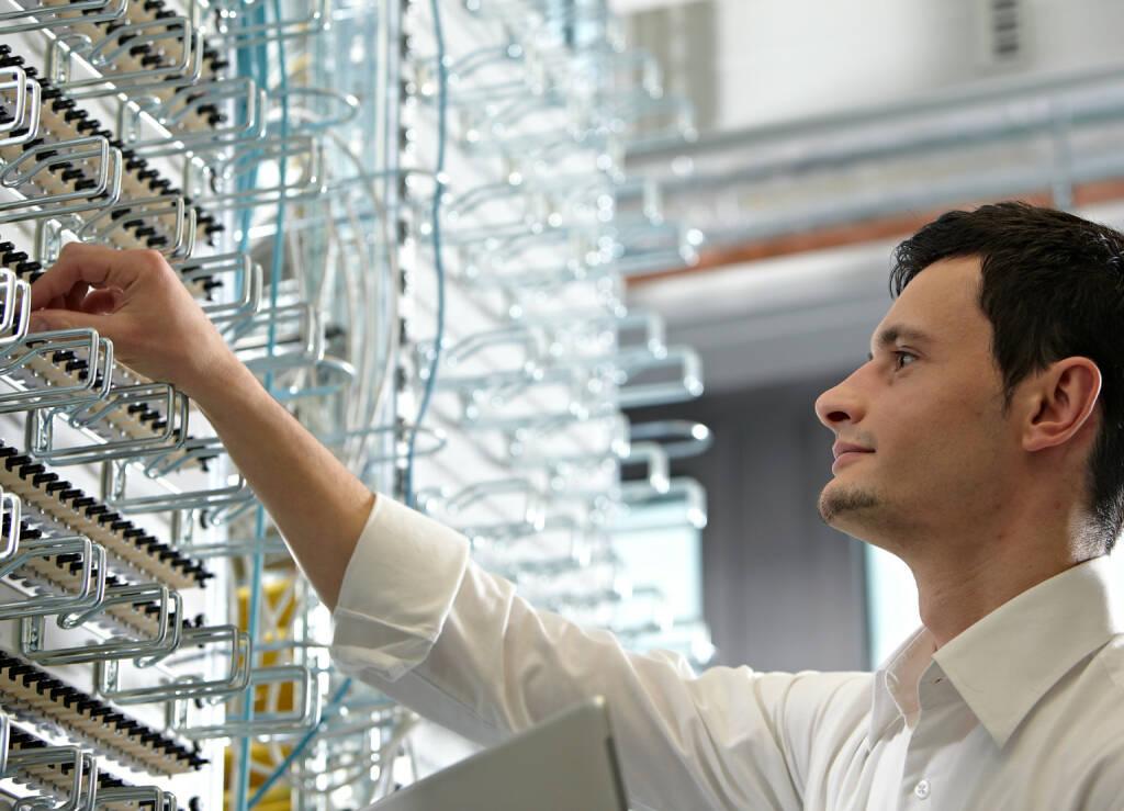 Kabel, Rechenzentrum, Datenübertragung, Xetra, Handelsdaten, Mitarbeiter, IT, Credit: Deutsche Börse AG (30.01.2018)