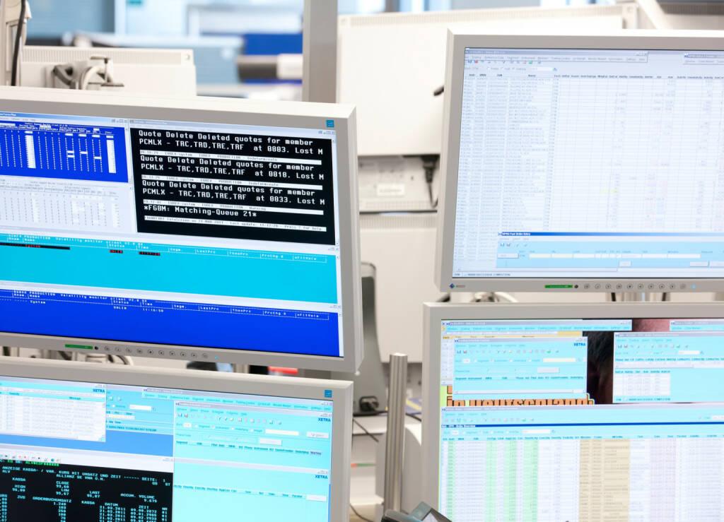 Deutsche Börse, Xetra, Handelsdaten, Trading, Bildschirm, Credit: Deutsche Börse AG (30.01.2018)