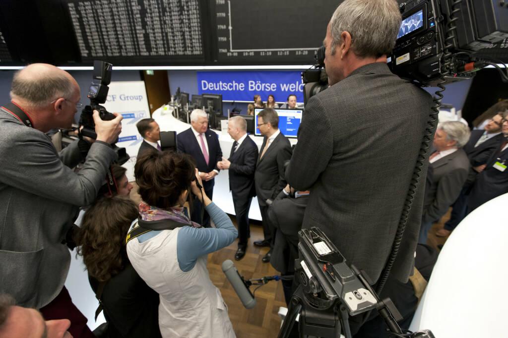 Deutsche Börse AG - IPO Evonic IHK Frankfurt / Parkett, Medien, Credit: Deutsche Börse AG (30.01.2018)
